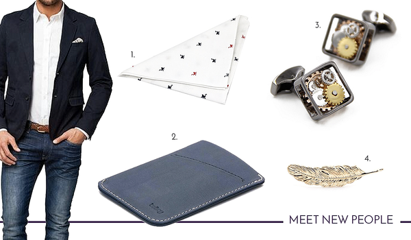 Socialise and network with the right cufflinks and accessories