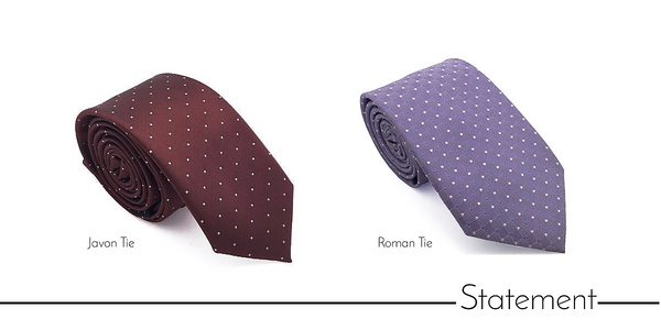 Men's statement skinny neckties