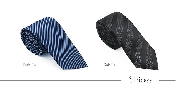 Men's striped neckties