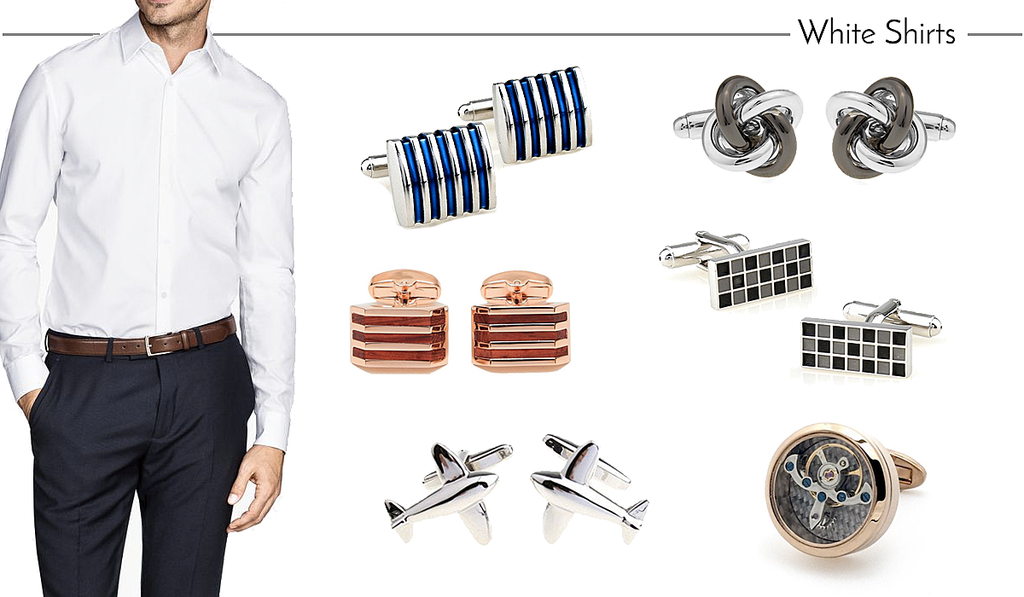 How to Match Cufflinks to White Work Shirts