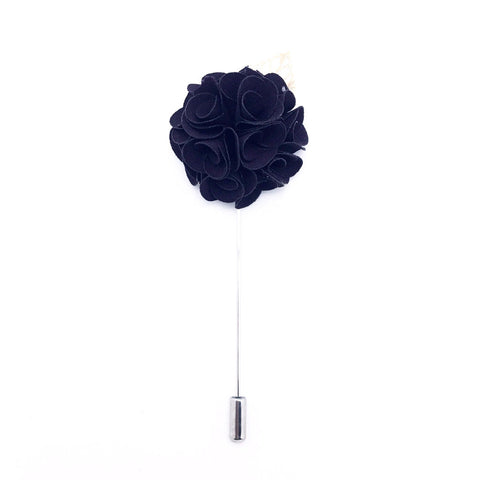 Royal Violet Lapel Rose Pin Boutonniere