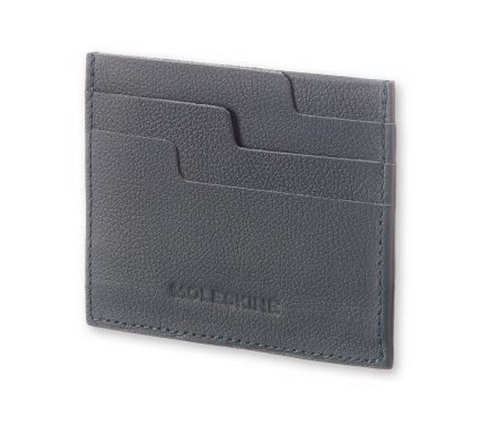 Bags - Moleskine Lineage Leather Card Wallet - Blue Avio - The Little Link