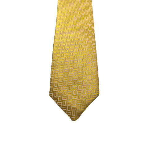 Yellow Gold Patterned Tie - Holden