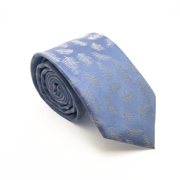 Ties - Blue Feather Patterned Tie - Arlo - The Little Link