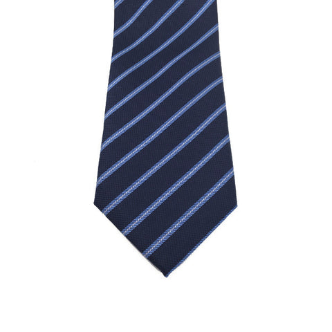 Navy Blue Stripe Tie - Robert