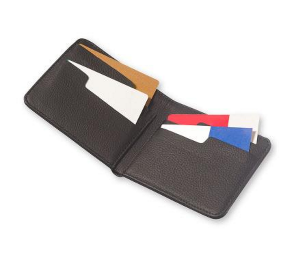 Bags - Moleskine Lineage Leather Horizontal Wallet - Black - The Little Link