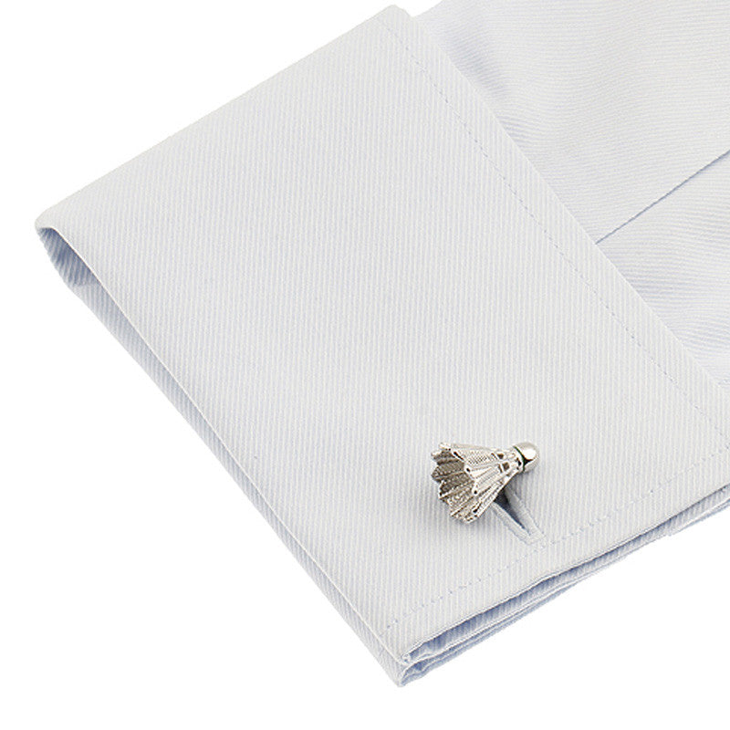 Classic Cufflinks - Shuttlecock Silver - The Little Link