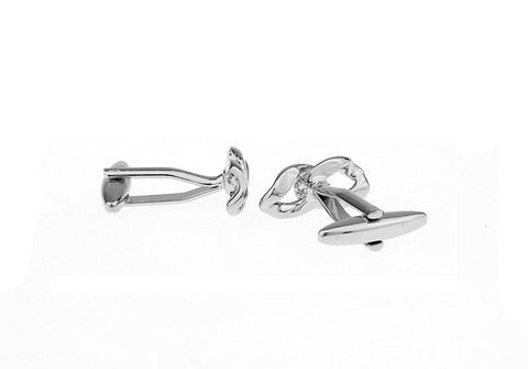 Silver Classic Knot Cufflinks - Love Links