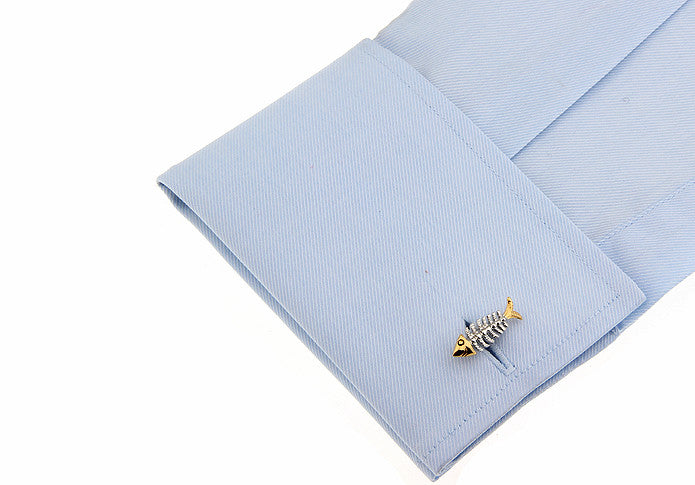 Novelty Cufflinks - Fishbone - The Little Link