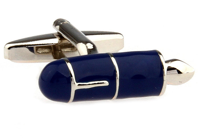 Blue Novelty Cufflinks - Fountain Pen Cufflinks