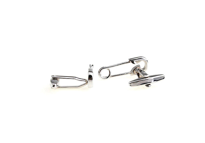 Novelty Cufflinks - Safety Pin - The Little Link