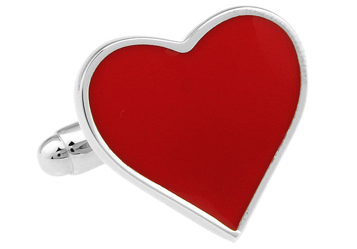 Red Heart Cufflinks - I Love You