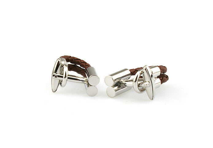 Novelty Cufflinks - Roped In (Brown) - The Little Link