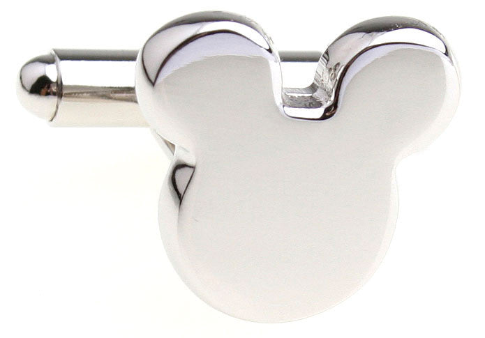 Silver Mickey Mouse Cufflinks - Mickey