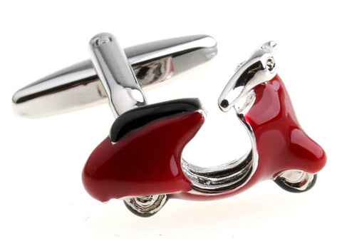 Novelty Cufflinks - Vespa ( Red) - The Little Link