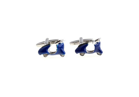Novelty Cufflinks - Vespa (Blue) - The Little Link