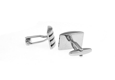 Silver and Black Classic Cufflinks - Scoop