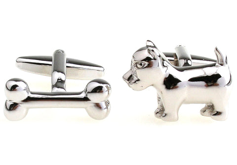 Novelty Cufflinks - Dog and Bone - The Little Link