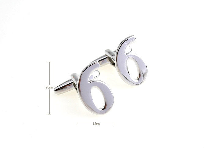 Novelty Cufflinks - Number 6 - The Little Link