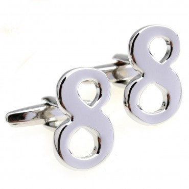 Novelty Cufflinks - Number 8 - The Little Link