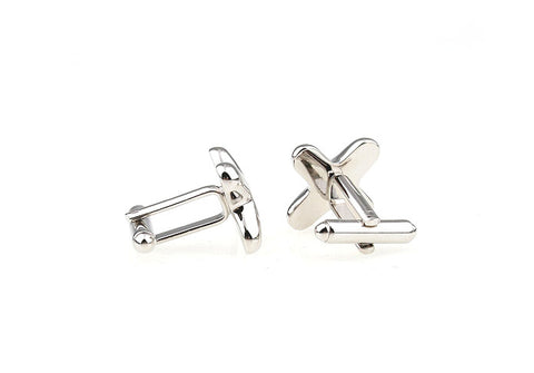 Silver and Black Classic Cufflinks - Tight