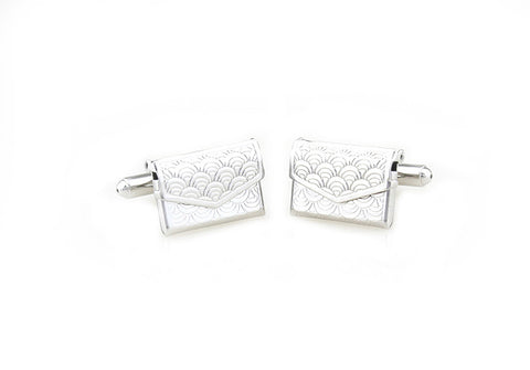 Silver Novelty Cufflink - The Letter (Carved)