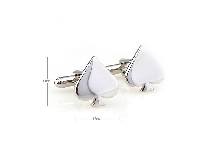 Novelty Cufflinks - Silver Poker Cufflinks - Ace of Spades - The Little Link