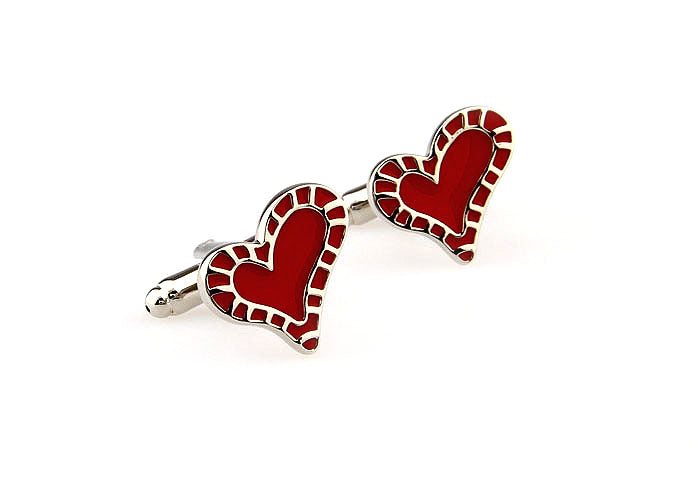 Novelty Cufflinks - Full Hearts - The Little Link