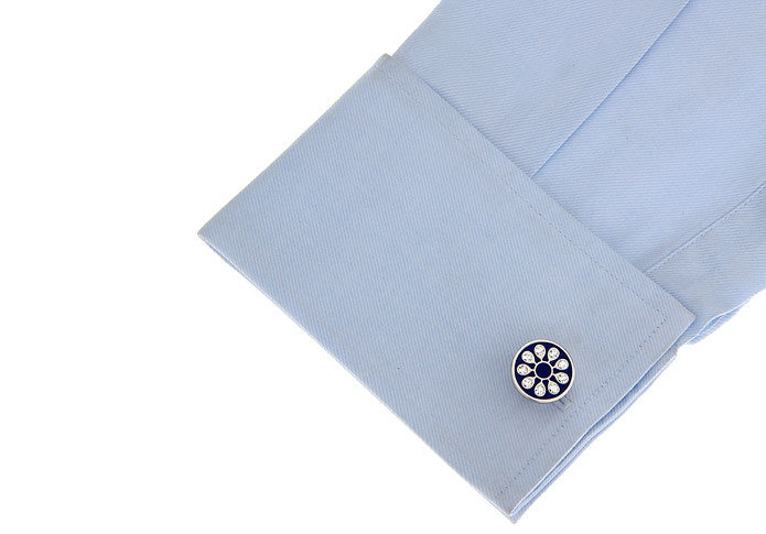 Classic Cufflinks - Crystal Floral - The Little Link