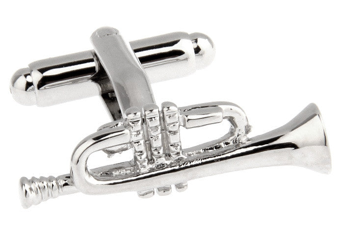 Silver Novelty Music Cufflinks - Timmy Trumpet