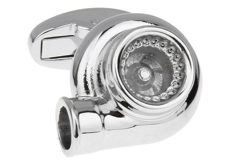 Silver Cars Cufflinks - Turbo Charger
