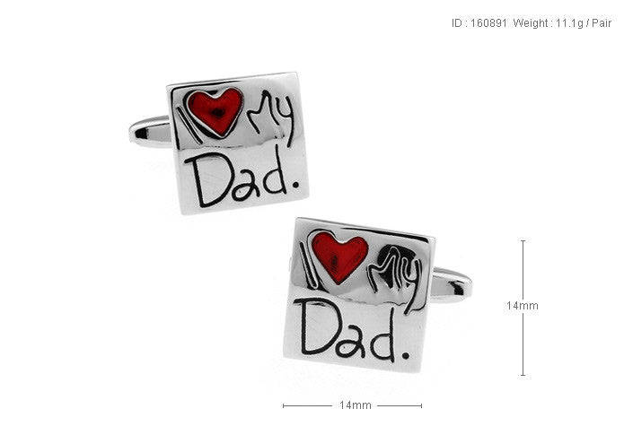 Novelty Cufflinks - I Love My Dad - The Little Link