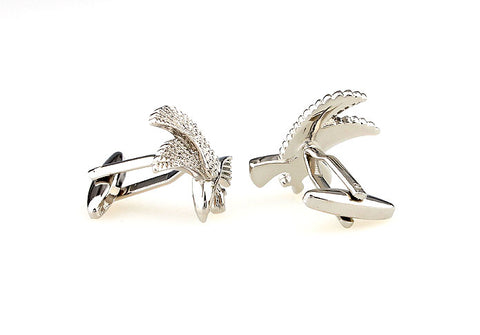 Silver Animal Cufflinks - Eagle Eyes