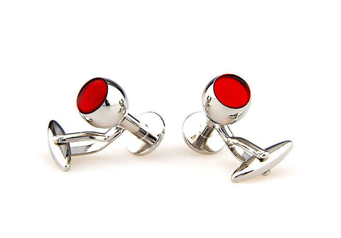 Silver Novelty Cufflinks - Goblet of Dionysus