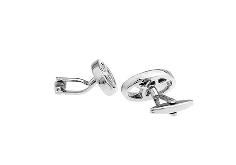 Novelty Cufflinks - Toyota Logo (silver) - The Little Link