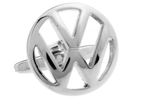 Novelty Cufflinks - Volkswagen Silver - The Little Link