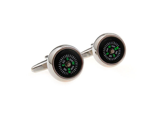 Novelty Cufflinks - Life's Directions (Black) - The Little Link