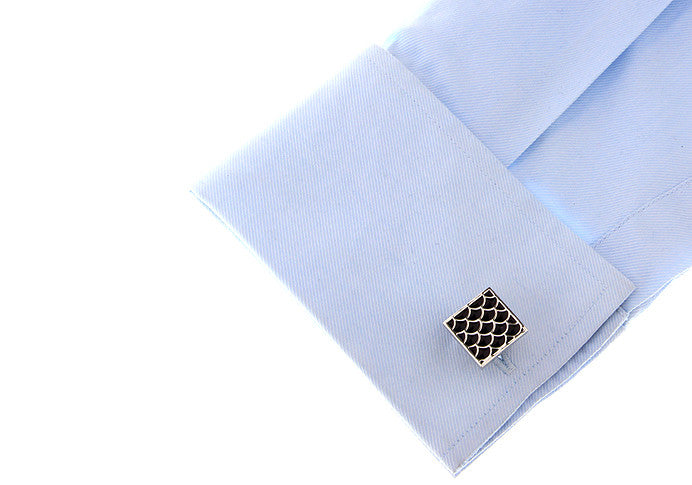 Classic Cufflinks - Dragon Scales - The Little Link