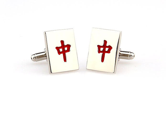 Novelty Cufflinks - Mahjong Zhong - The Little Link