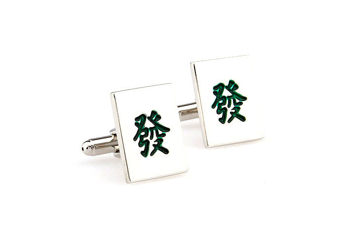 Novelty Cufflinks - Mahjong Fa - The Little Link
