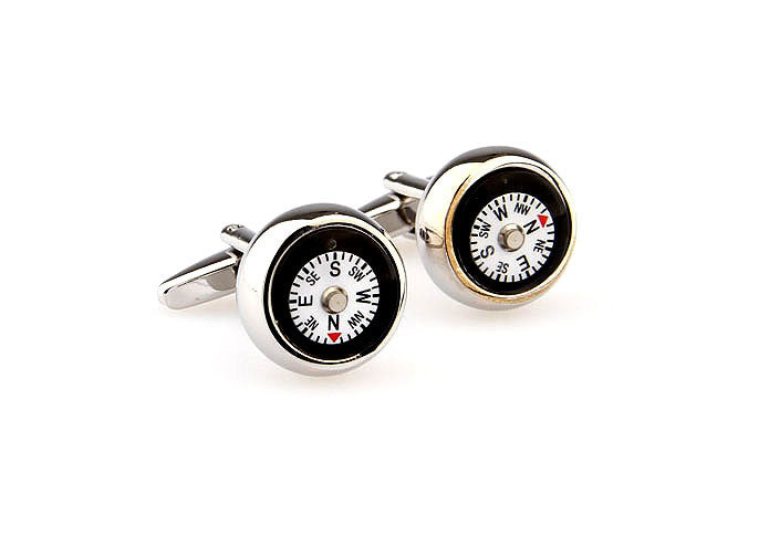 Novelty Cufflinks - Life's Directions (White) - The Little Link