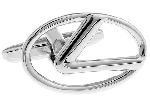 Novelty Cufflinks - Lexus Silver Logo - The Little Link