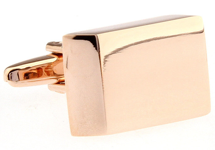 Gold Rectangle Classic Cufflinks - Psyched