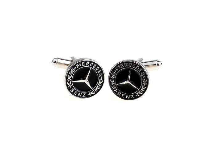 Novelty Cufflinks - Mercedes Benz Logo - The Little Link