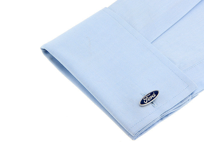 Novelty Cufflinks - Ford Blue - The Little Link