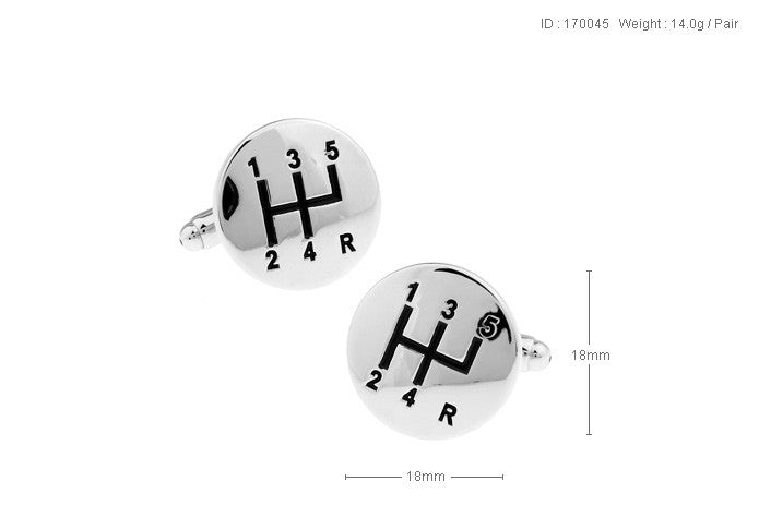 Novelty Cufflinks - Top Gear (Silver) - The Little Link