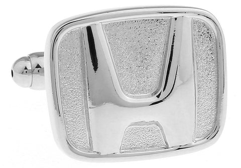 Novelty Cufflinks - Honda Logo (Silver) - The Little Link