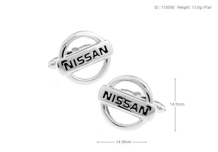 Novelty Cufflinks - Nissan Logo - The Little Link