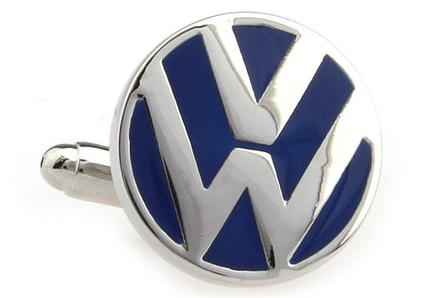 Blue and Silver Cars Cufflinks - Volkswagen Logo
