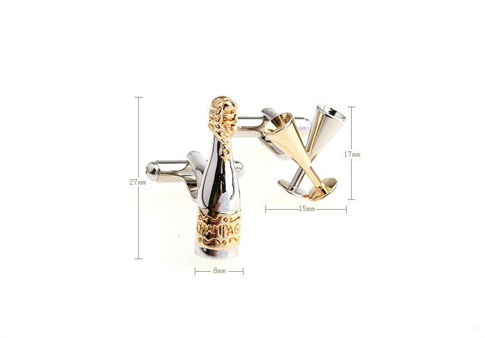 Novelty Cufflinks - Champagne Time - The Little Link